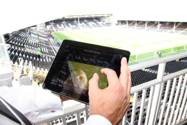 Fulham FC security system iPad