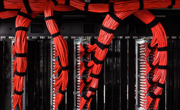 Red patch cabling