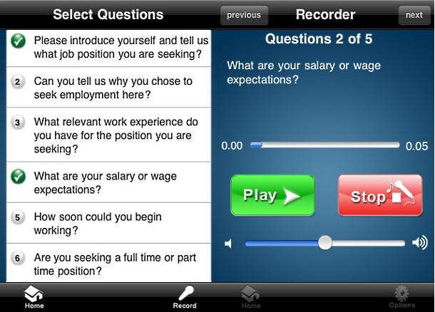 Audio Job Interview Professional app
