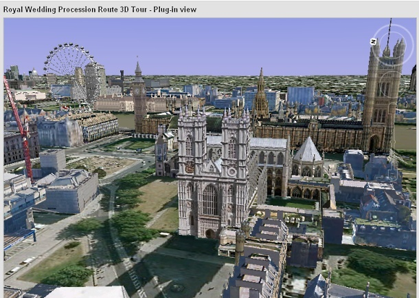 Westminster Abbey on Google Earth