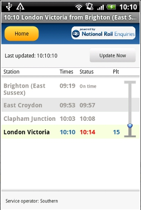 Rail Planner Live Android app