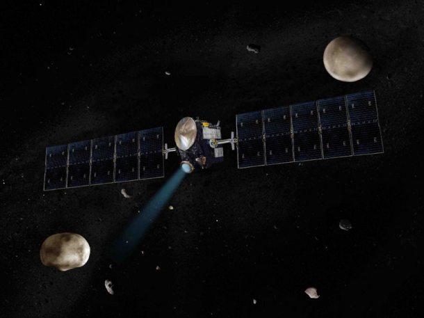 Artist's impression of Dawn probe