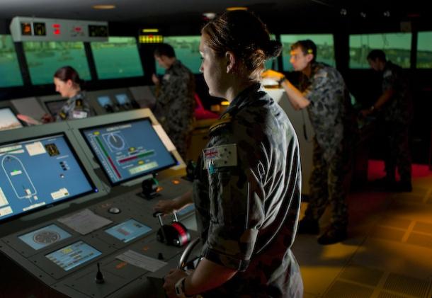 Navy virtual-reality training simulator