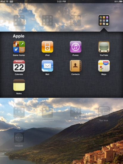 iPad folders