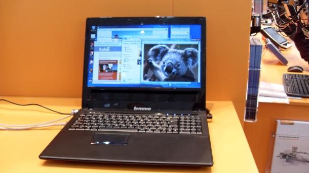 Tobii Lenovo eye-controlled laptop