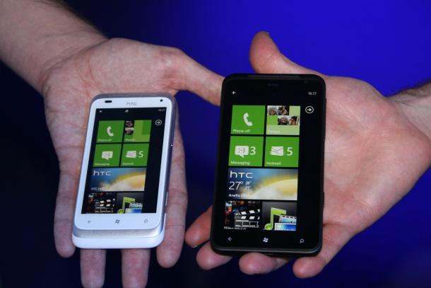 HTC Titan and HTC Radar compared