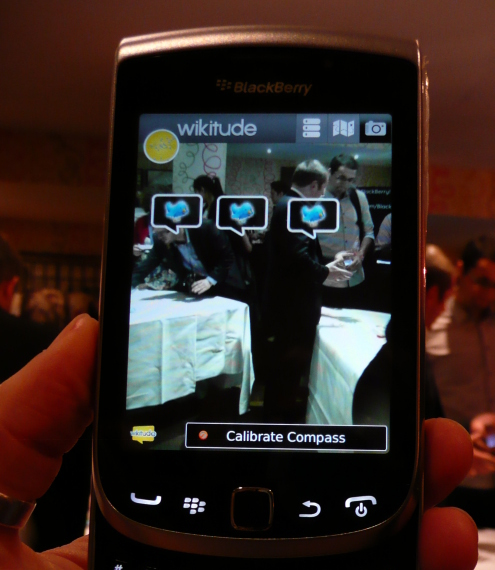 Wikitude on BlackBerry Torch 9810