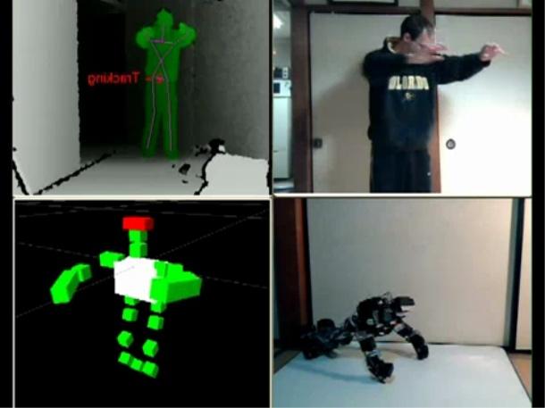 Kinect hack robot