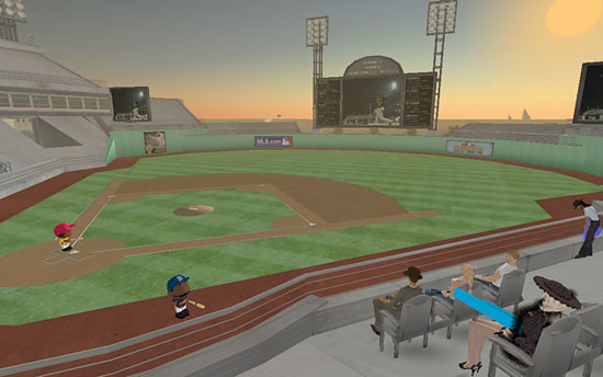Baseball in 'Second Life'