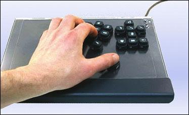 The custom-made keyboard
