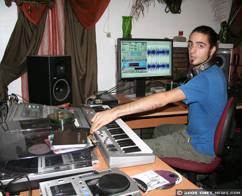 Photos: High-tech DJ works the hard drive