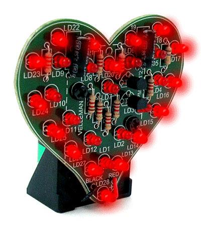 LED flashing heart