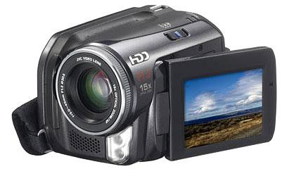 Photo: The JVC GZ-MG50 camcorder