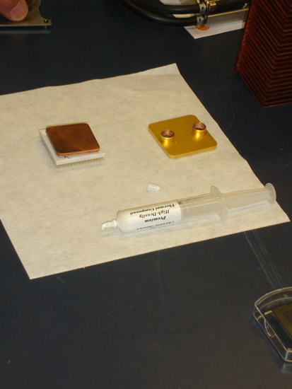 An experimental paste designed to help dissipate chip heat