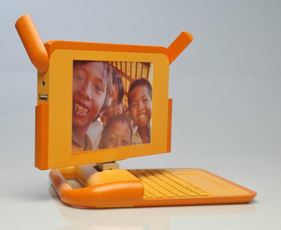 Orange laptop