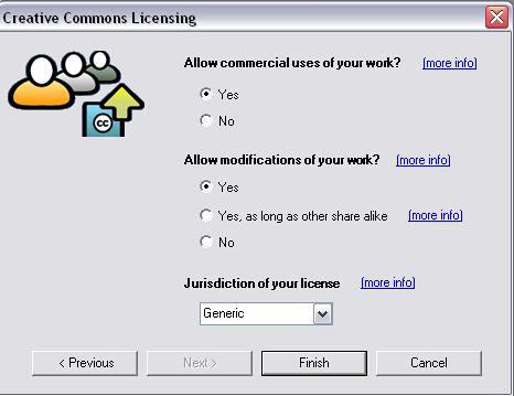 Creative Commons choice