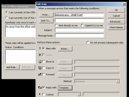 Automate away messages