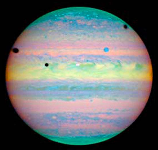 Jupiter moon shadows