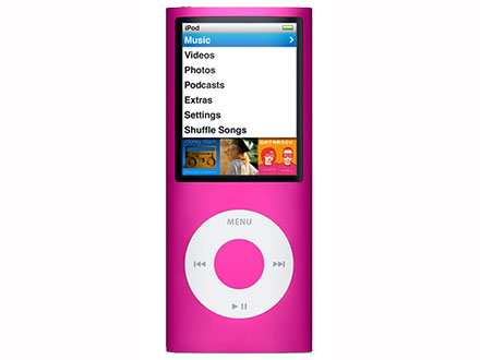 Apple iPod Nano (fourth generation, 16GB, pink)