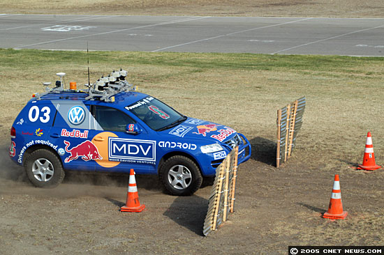 Photos: Robot vehicles race for Grand Challenge