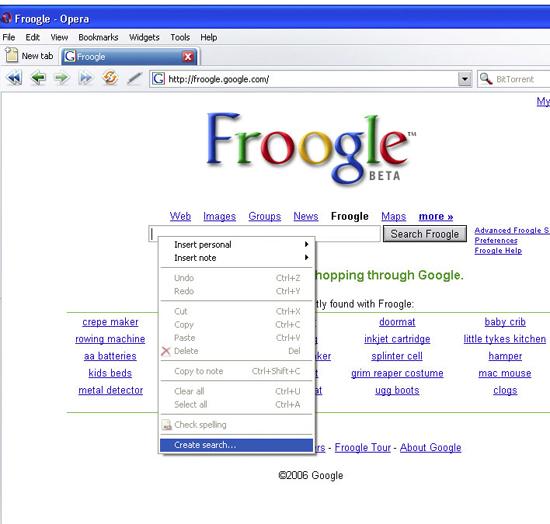 Create search