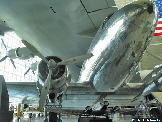 DC-3 dwarfed