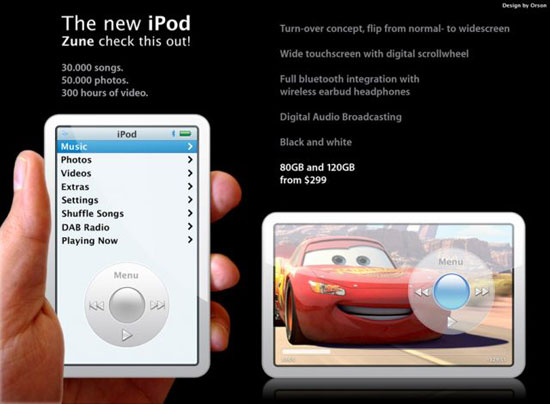 Video iPod with touch screen