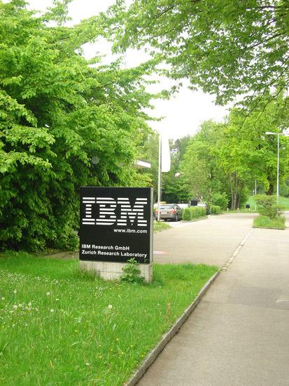 Leafy green welcomes visitors to IBM's Zurich lab