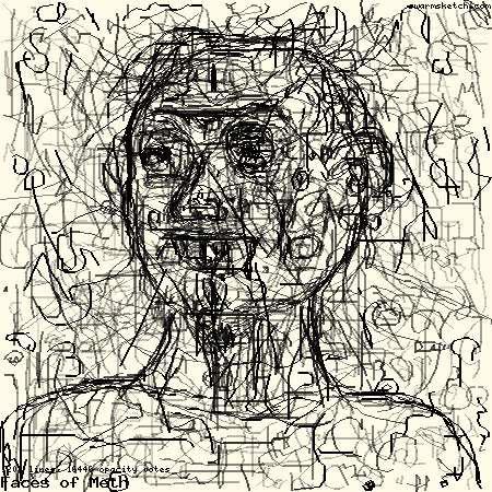 SwarmSketch: Faces of Meth