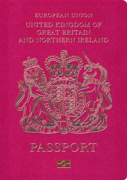 UK e-passport cover