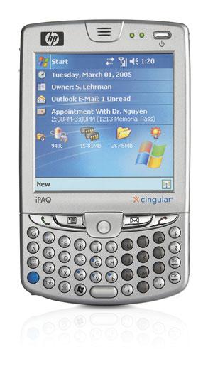 Photo: HP's iPaq with an EDGE