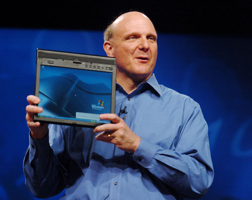 Ballmer shows off ThinkPad tablet