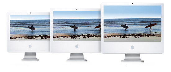 iMac in three sizes