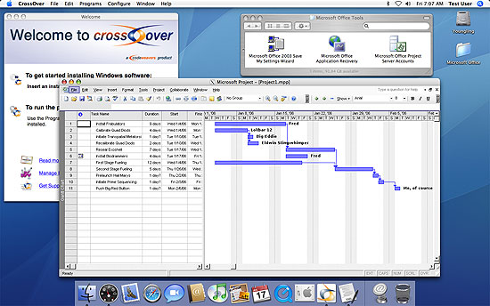 Microsoft Project on Mac OS