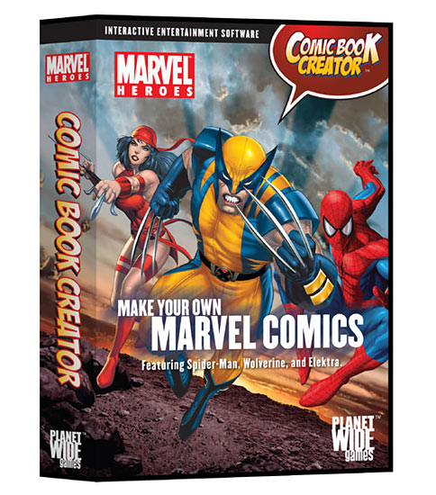 Packaging for Comic Book Creator's new Marvel Heroes edition