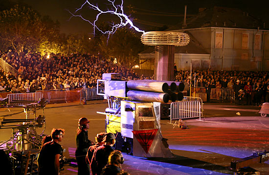 tesla coil and boeing machine