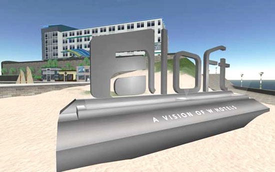 Long view of virtual hotel