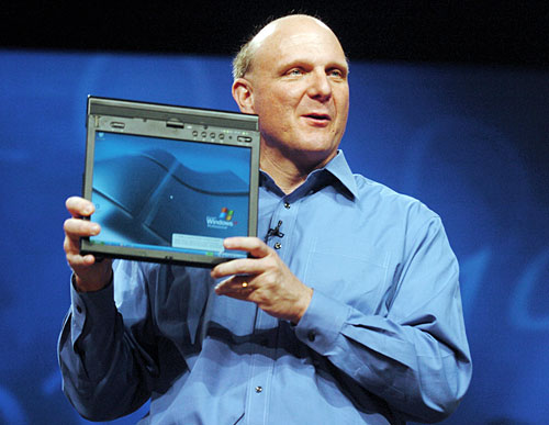 Ballmer with tablet PC
