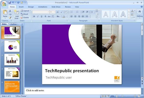 A first look: PowerPoint 2007 Beta 2 Screenshots