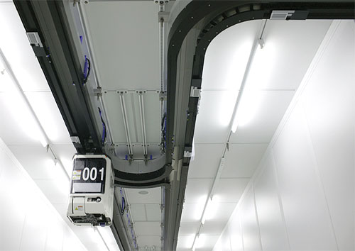 Robot on the ceiling