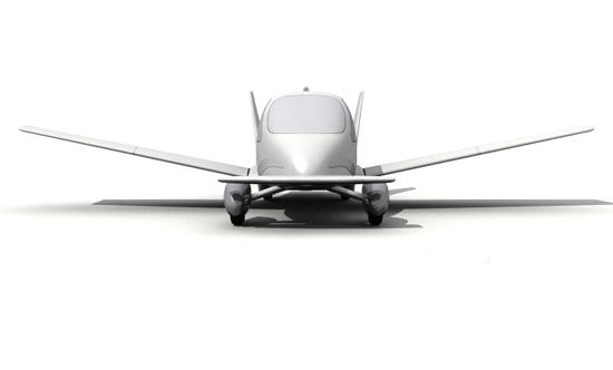 Terrafugia's flying car - front view