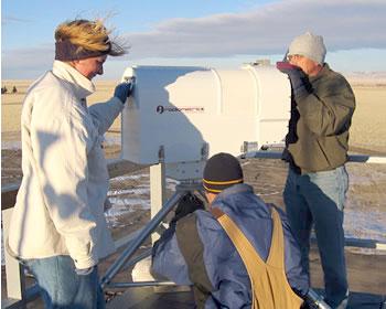 Aligning a radiometer