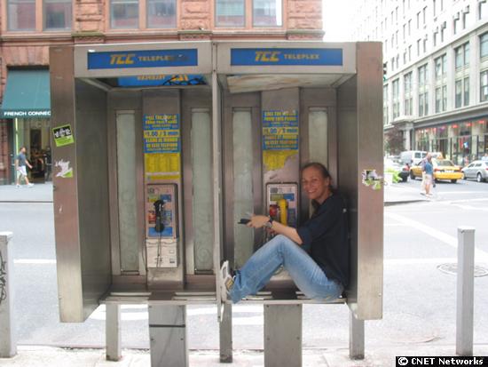 guarding phone bank