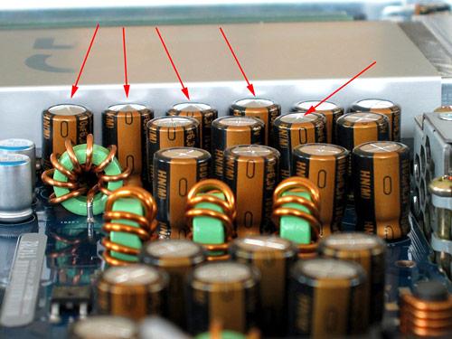 Swollen capacitors on iMac