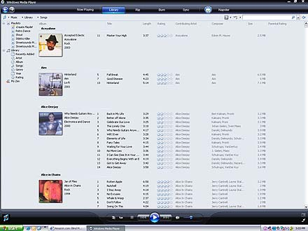 song view textual info