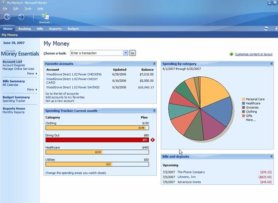 Money Essentials home page
