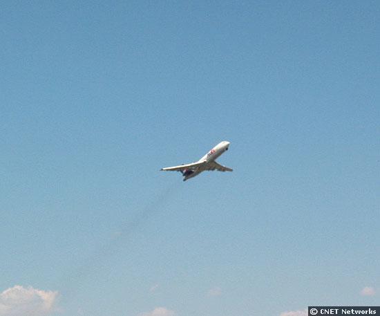 FedEx plane takes off