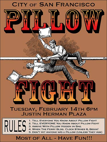 Pillow fight poster