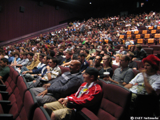 crowd at theater