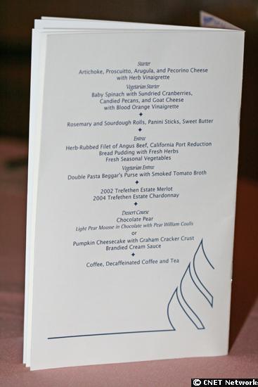 Gala menu